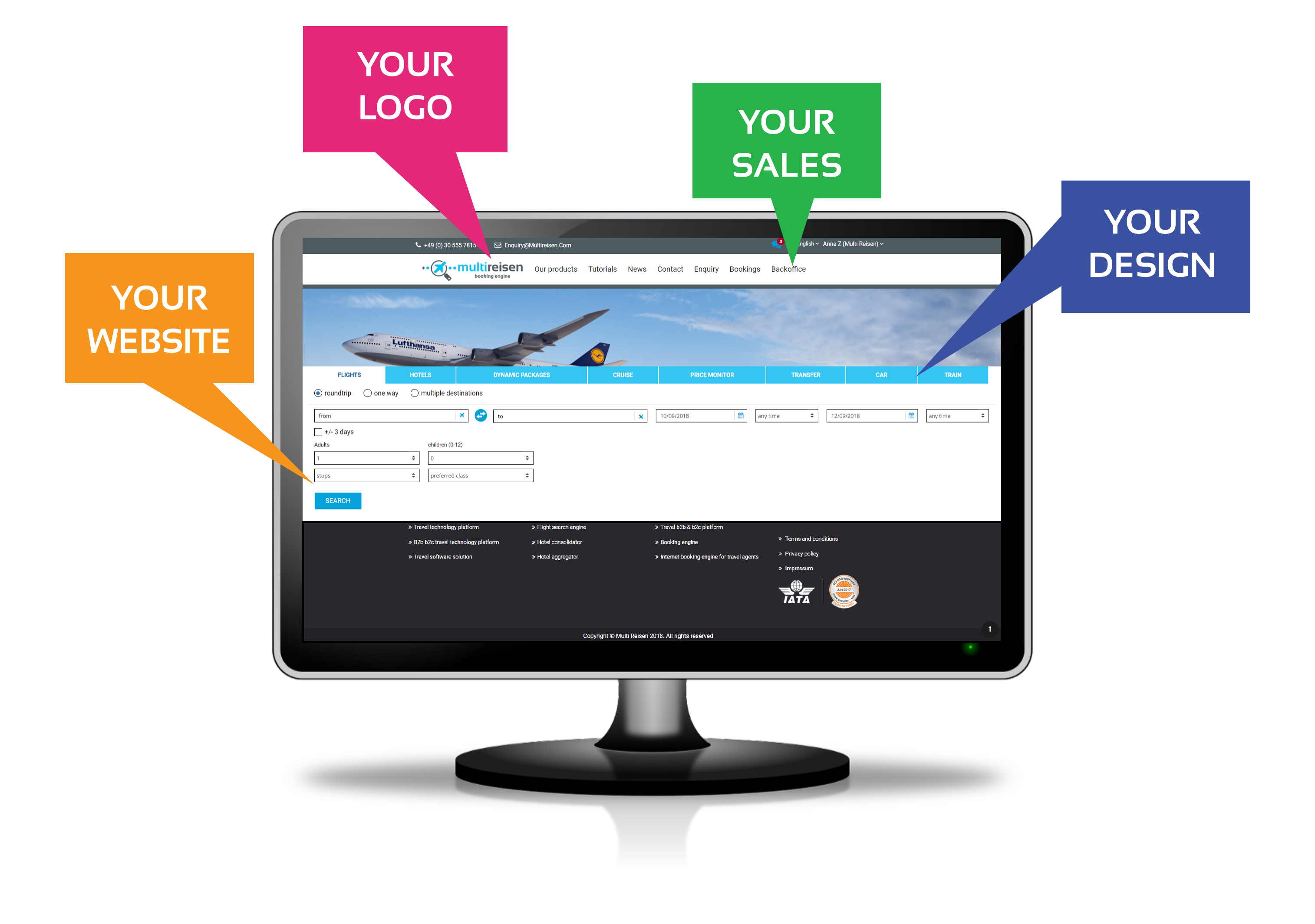 online booking engine:Travel technology providers Flight